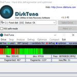 DiskTuna in action: de-fragmenting a drive