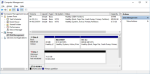unallocated: the partition was lost or deleted
