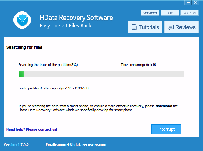 HData Recovery Software - Partition Scan - FAIL