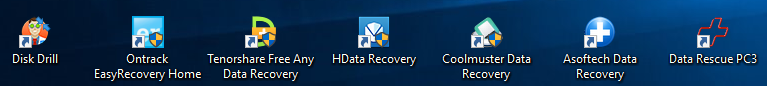 DIsk Drill, Ontrack EasyRecovery Home, Tenorshare Free Any Data Recovery, HData Recovery, Coolmuster Data Recovery, Asoftech Data Recovery, Data Rescue PC3