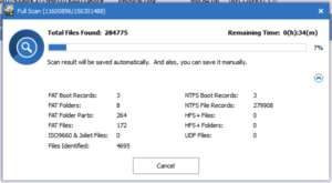 Power Data Recovery scanning for lost partitions scans for other file system structures too!