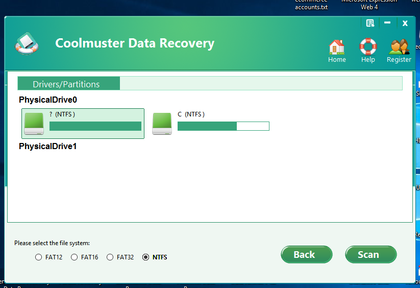 Coolmuster's undeleter. It is not a data recovery program.