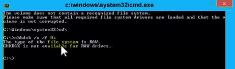 Chkdsk RAW partition