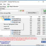 DiskTuna Deleted File Recovery - Right click directory tree to copy select directory