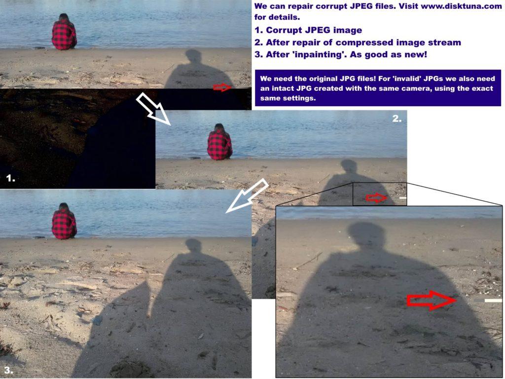 Example JPEG repair