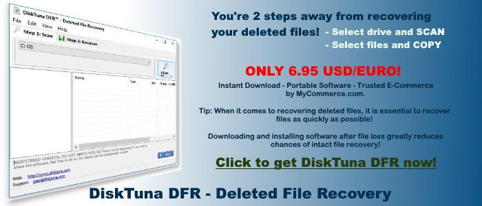Be prepared for deleted files with this portable undelete software