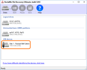 To do partition recovery, select the physical disk from which the partition was deleted