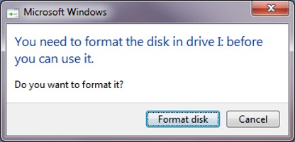 volume does not contain a recognized file system