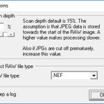Select JepgDigger scan settings