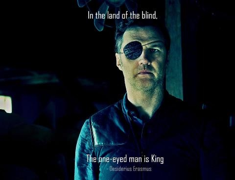 In the land of the blind, the one-eyed man is king