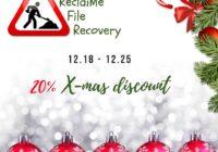 20% XMAS discount reclaime