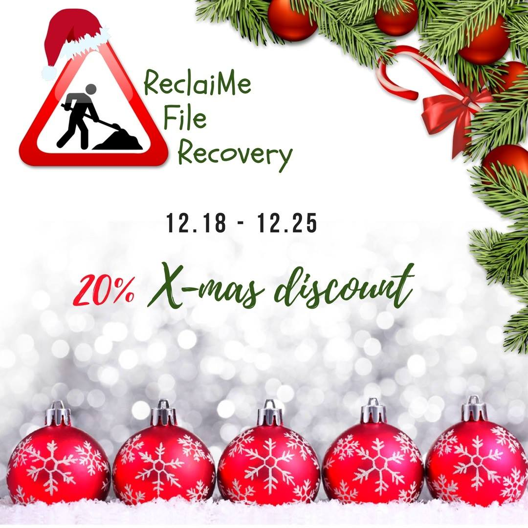 This Weekend Only: This Weekend Only, 20% Discount On ReclaiMe File Recovery