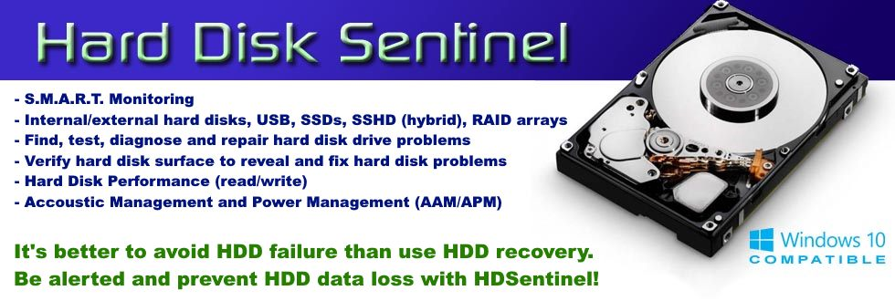 Hard Disk Sentinel (HDSentinel) is a multi-OS SSD and HDD monitoring and analysis software.
