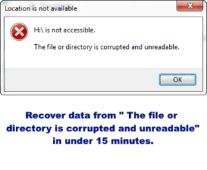 The file or directory is corrupted and unreadable – Recover your data