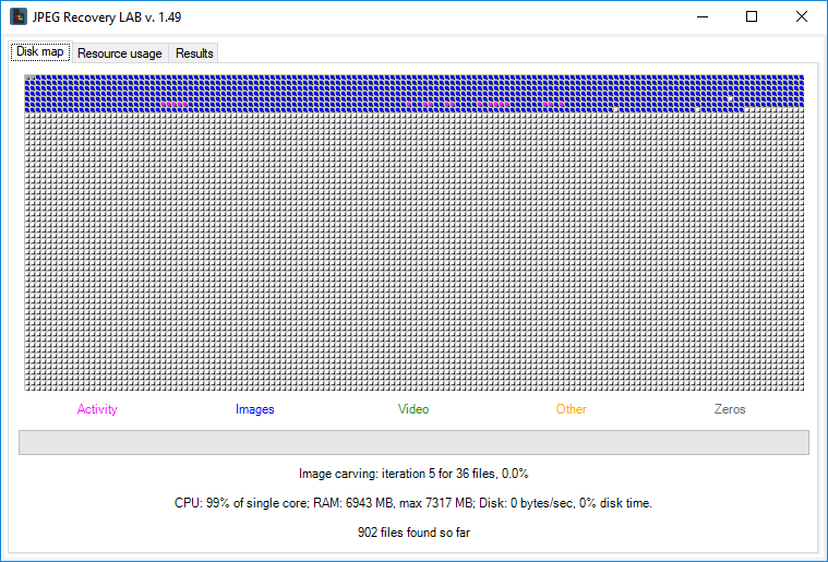 JPEG Recovery LAB screenshot