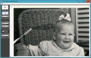 Removing scratches from old photos is as easy as selecting them and then double-click