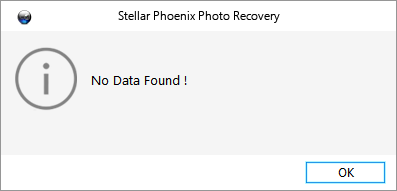 No data found, Stellar.