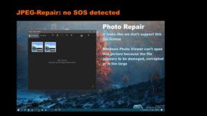JPEG-Repair, no SOS detected