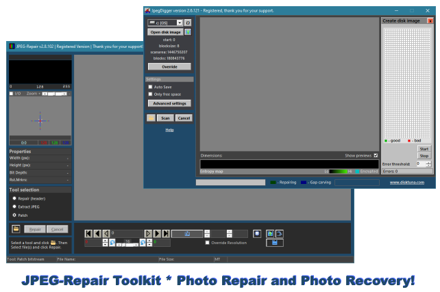 JPEG-Repair Toolkit * Photo Repair and Photo Recovery