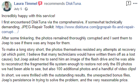 photo data recovery service review
