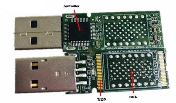 TSOP and BGA pads on one PCB